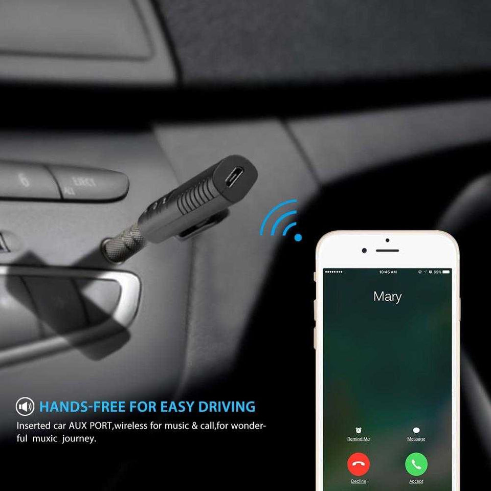 3.5mm Handsfree Aux to Bluetooth Car Adapter Receiver