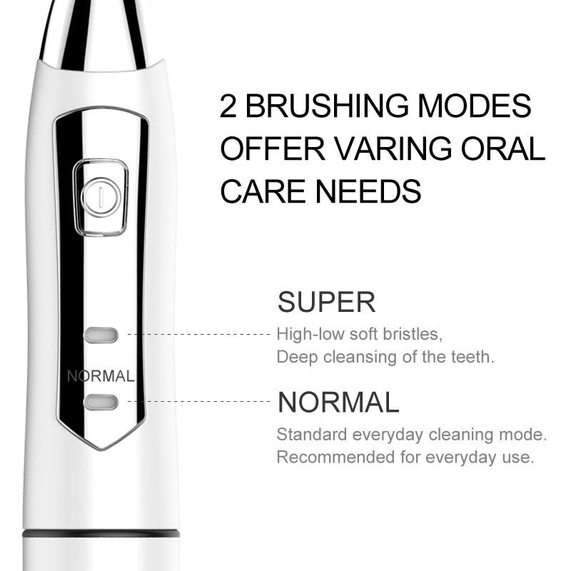 Waterproof Sonic Electric Toothbrush with 2 Brush Modes Electric Teeth Brush Teeth brush holder