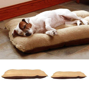 Winter Fleece Cushioned and Heated Dog Bed for Dogs and Cats