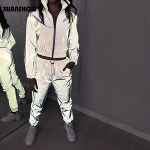 Women's Reflective Tracksuit