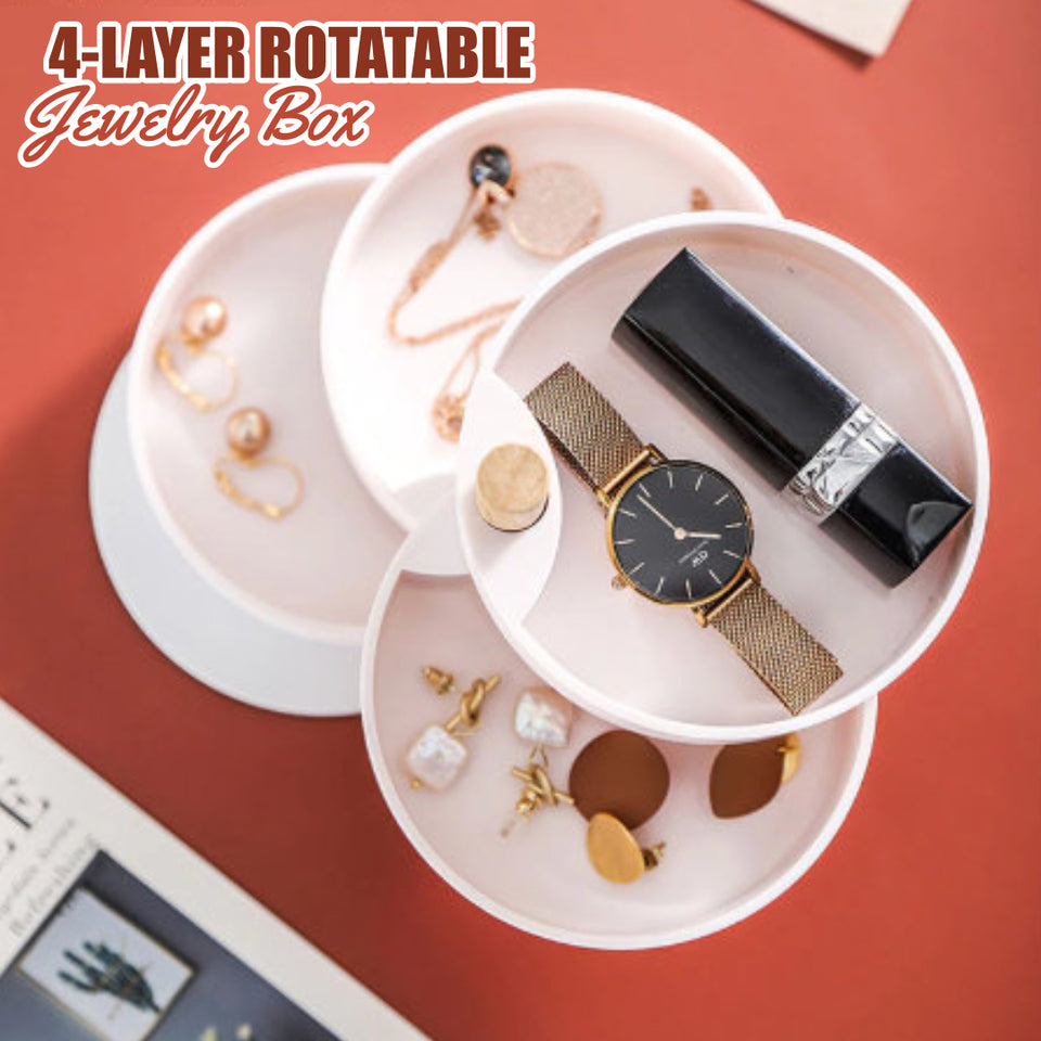 4-Layer Rotatable Jewelry Box