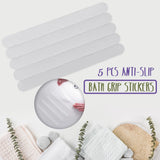5 Pcs Anti-Slip Bath Grip Stickers