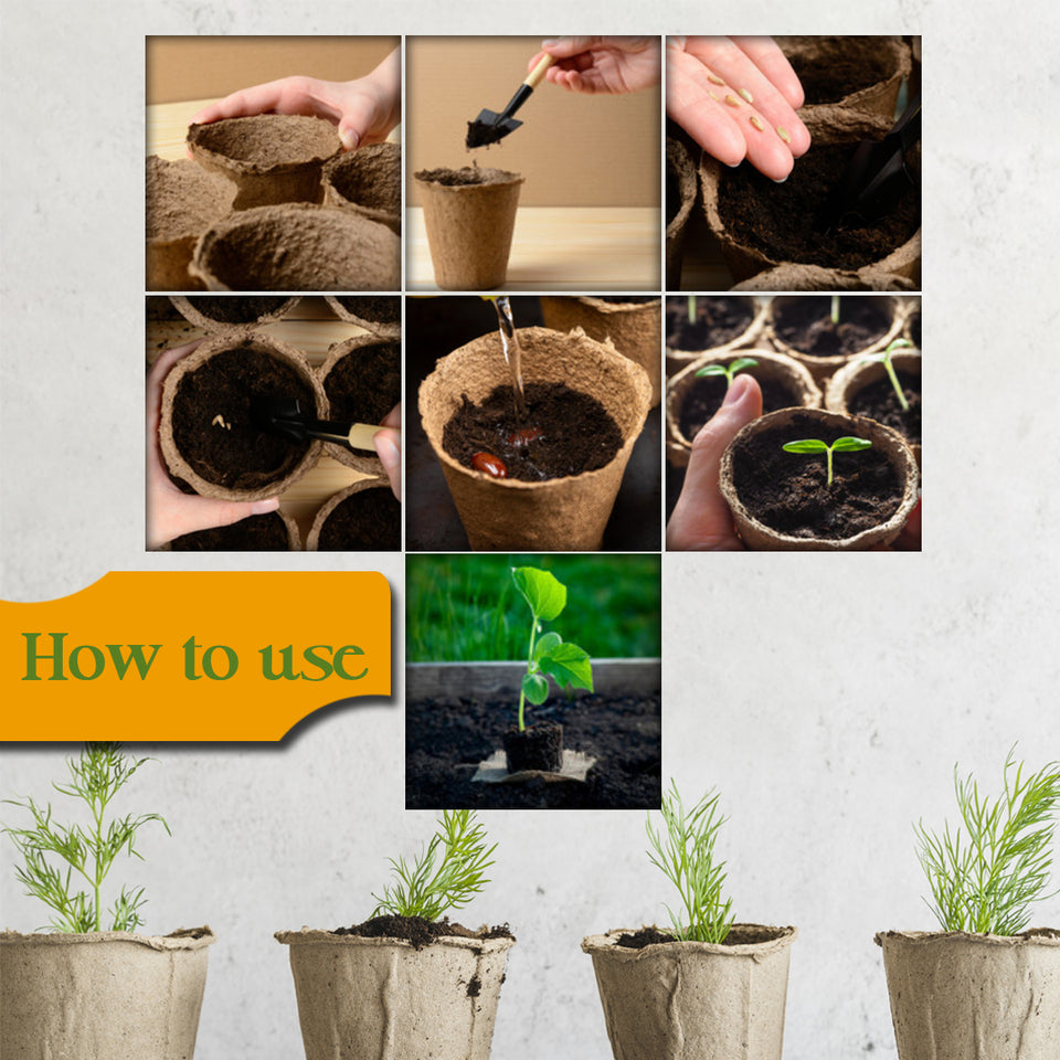 Biodegradable Seed Raising Peat Pots