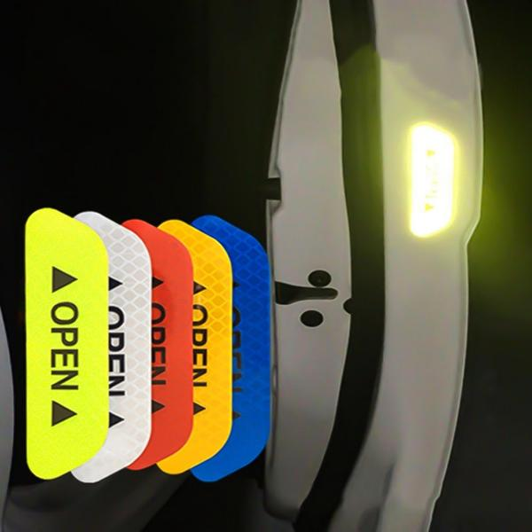 Car Door Open Warning Reflective Sticker (4pcs) | Viondeals