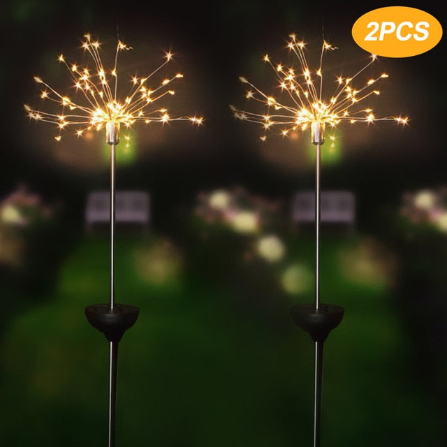 Solar Waterproof LED Firework Outdoor Lights