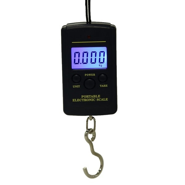 40kg x 10g Mini Digital Luggage Scale with Hook luggage weight scale, digital luggage scale,