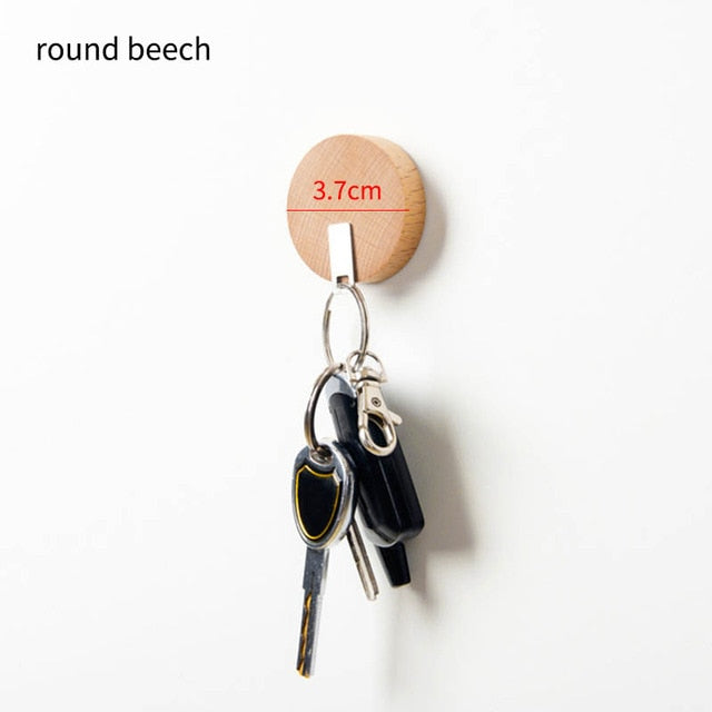 1Pcs Key Storage Organizer Wooden Hooks Portable Wall Mounted Key Ring Hanger Key Rack Strong Magnetic Key Holder | ZM2017 Store