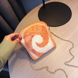 2019 Fashion Shoulder Bag Creative Style Ladies Handbag French Toast Bread Printing Chain Bag Cute 3d Bread Messenger Bag@py | Weafamily Store