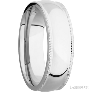 Cobalt Chrome Milgrain Band