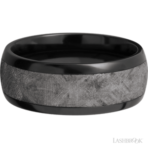 Load image into Gallery viewer, Meteorite Inlay Ring