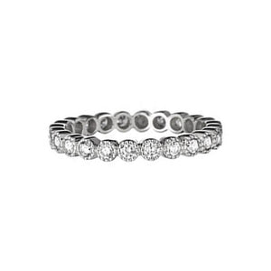 White Diamond Bezel Set Band