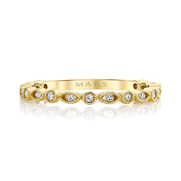 Alternating Marquise Round Stack Band