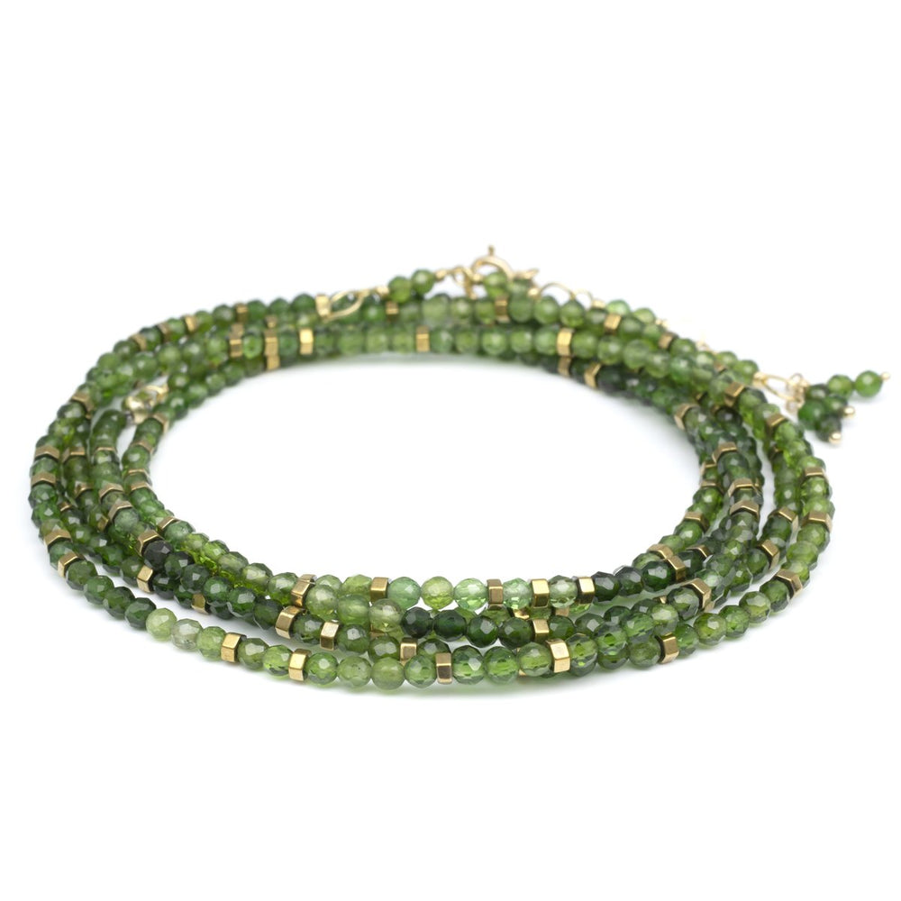Load image into Gallery viewer, Green Tourmaline Confetti Wrap