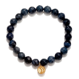 Gloaming Dumortierite Moon Stretch Bracelet