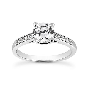 Load image into Gallery viewer, Diamond Band Engagement Ring