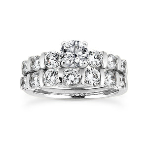 Bar Set Engagement Ring