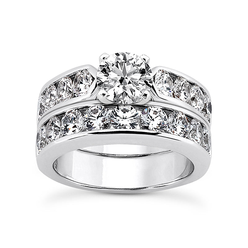 Channel Band Engagement Ring