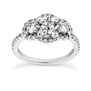 Triple Halo Engagement Ring