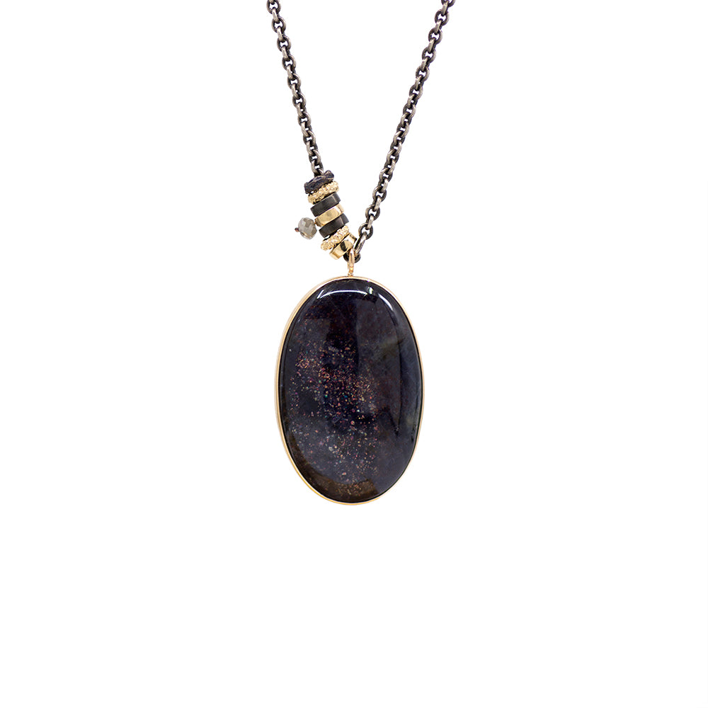 Load image into Gallery viewer, Iolite In Sunstone Convertible Necklace