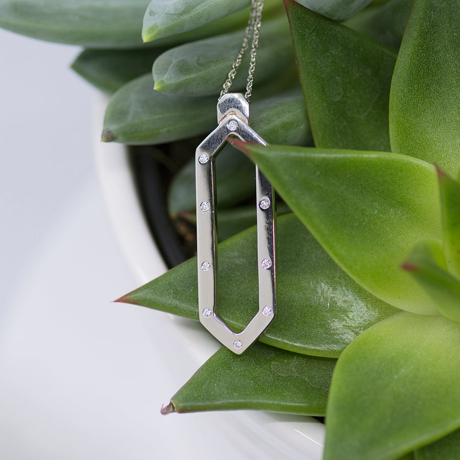 Long Hexagon Pendant
