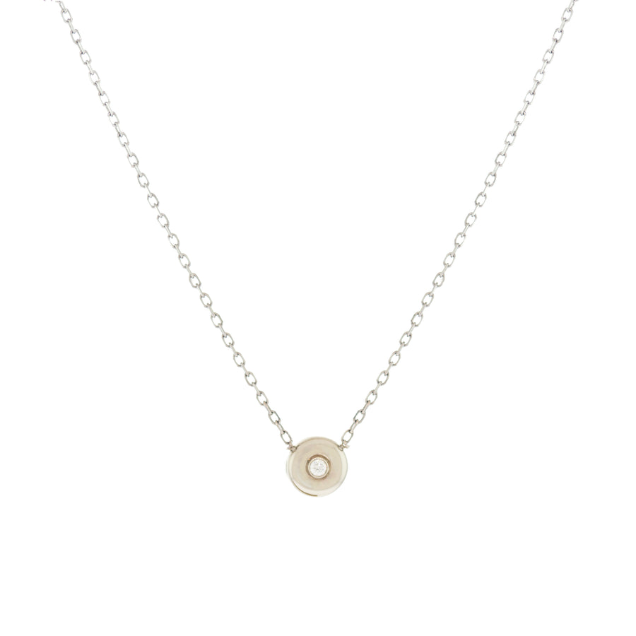 Thick Bezel Necklace