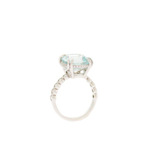 Cushion Shaped Aquamarine Ring