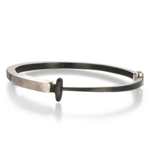 White Gold Collar Nail Bracelet