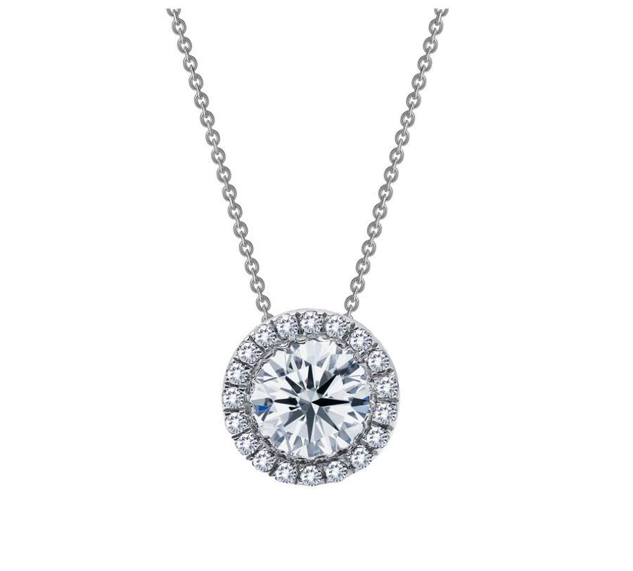 Round Halo Necklace