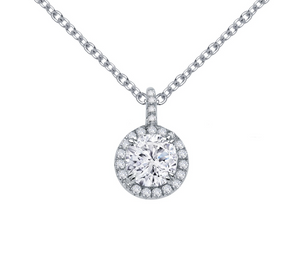 Elegant Round Halo Necklace