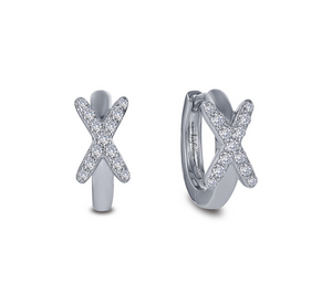 Criss-Cross Huggie Earrings