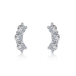 Load image into Gallery viewer, 3-Stone Stud Earring