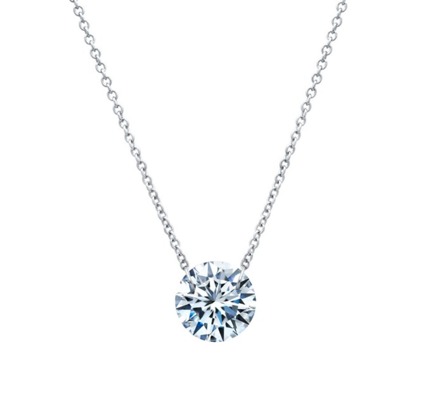 Frameless Solitaire Necklace