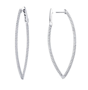 Inside Out Marquise Hoops