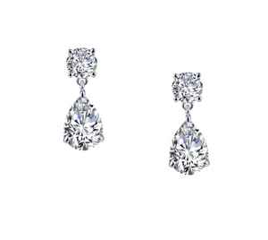 Pear-Shaped Drop Earrings