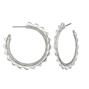 Rise With The Sun Silver Hoop Earrings