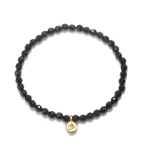 Load image into Gallery viewer, Mini Om Onyx Bracelet