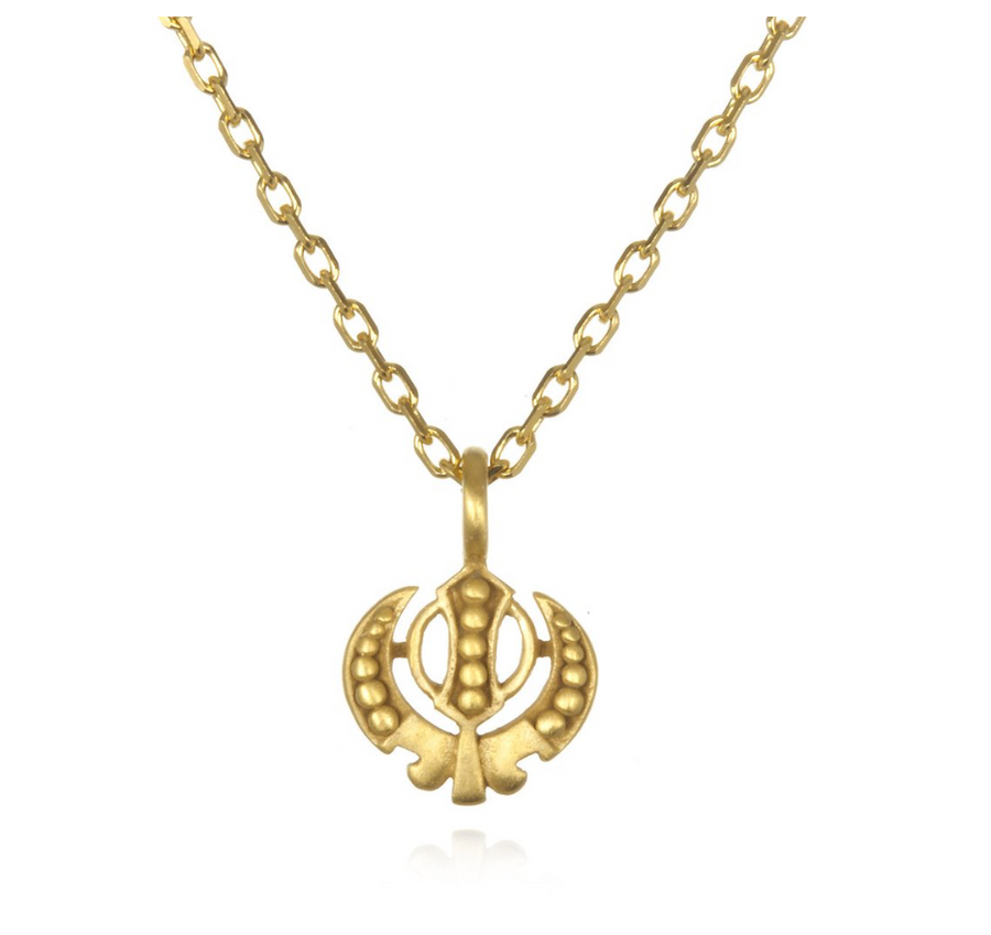 Adi Shakti Gold Necklace