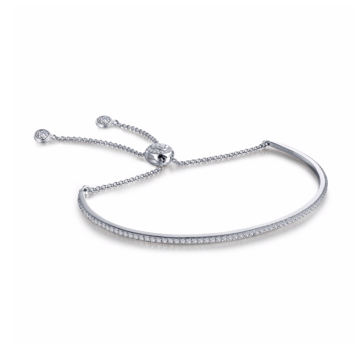 Adjustable Pave Bar Bangle