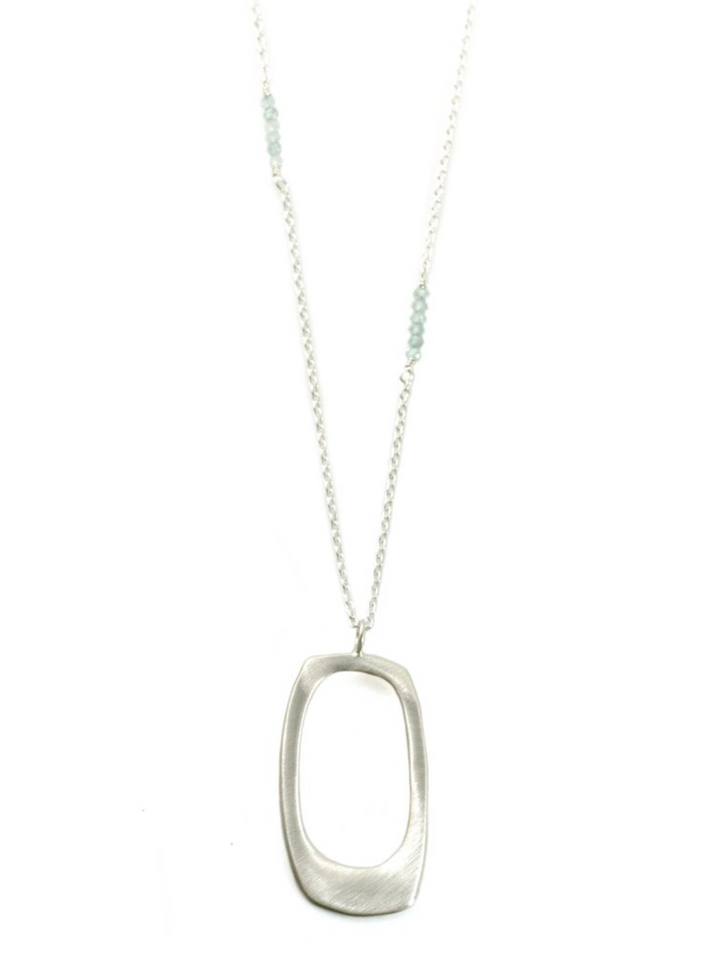 Rectangle Zircon Necklace