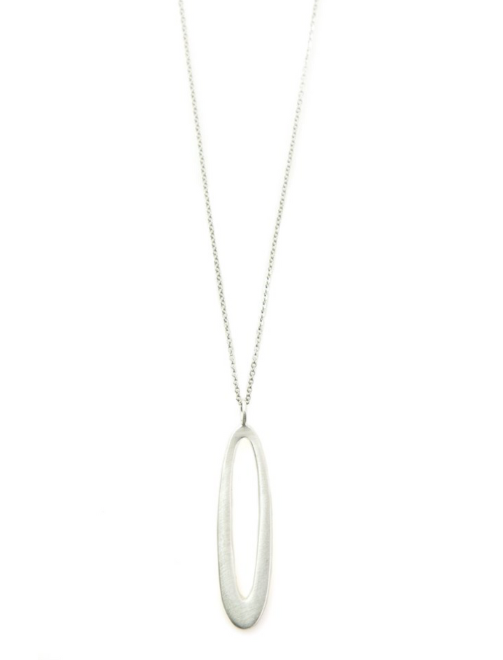 Skinny Oval Necklace