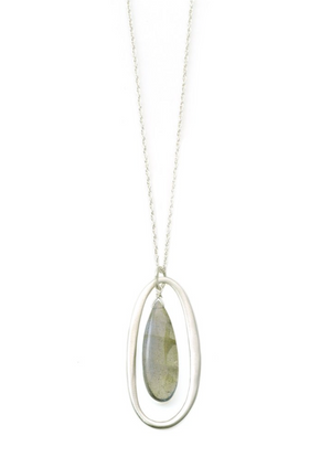 Oval Labradorite Necklace