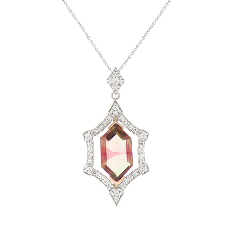Tourmaline Kite Necklace
