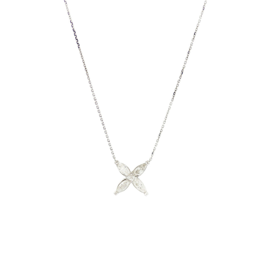 X-Shape Marquise Necklace