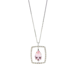 Pear Pink Tourmaline Necklace