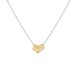 Diamond Pave Puffy Heart