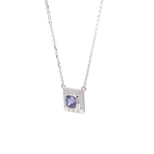 Diamond + Spinel Necklace