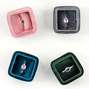 Bezel Set Spinel Stackers