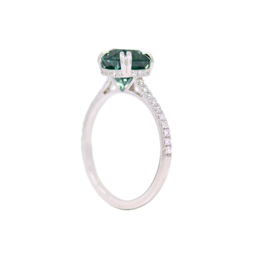 Tourmaline & Diamond Ring