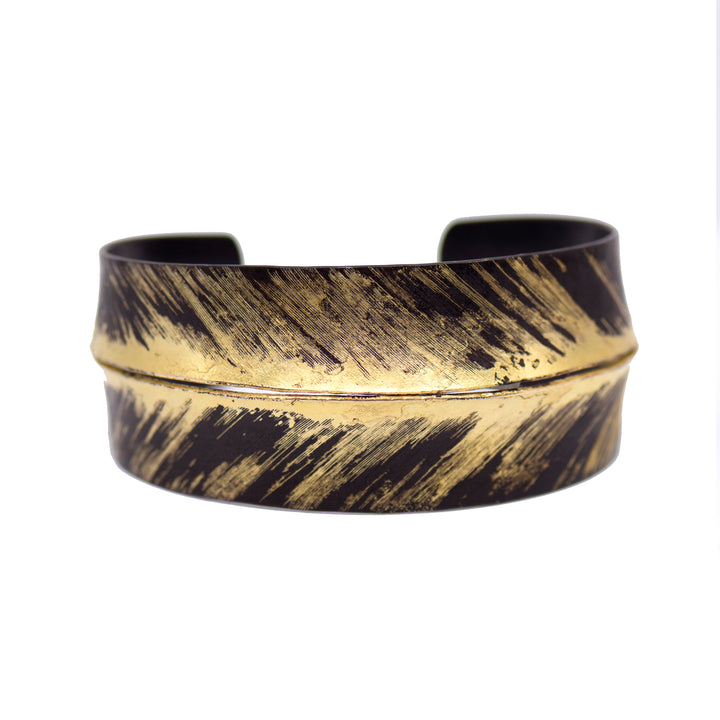 Gold Dust Feather Cuff Bracelet