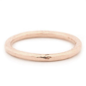 Hammered Finish Band - Rose Gold